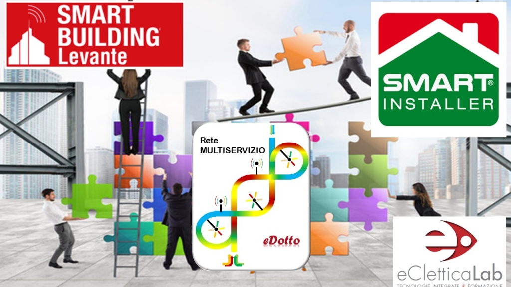 "Impianto multiservizio ""acceso"" allo stand SMART INSTALLER di Smart Building"